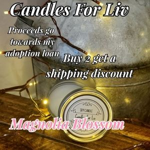 New Homemade Soy Candle Magnolia Blossom